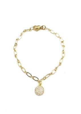 iiShii Designs CZ Pave Disc Bracelet