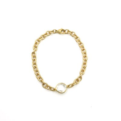 iiShii Designs Gold Plated Clear Quartz Bracelet