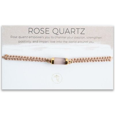 Lenny & Eva Elin Cord Bracelet Rose Quartz