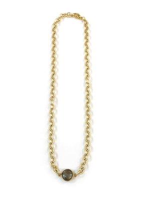 iiShii Designs Mixed Metal Gold Plated Choker w/ Pyrite Stone