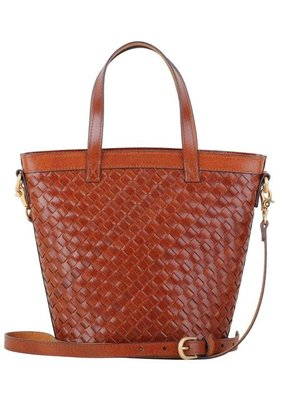 Most Wanted USA Top Handle Tan Carry All Essential Weave