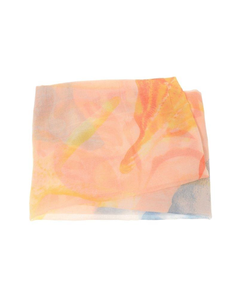 Joy Susan Soft Pink Oversized Shell Scarf