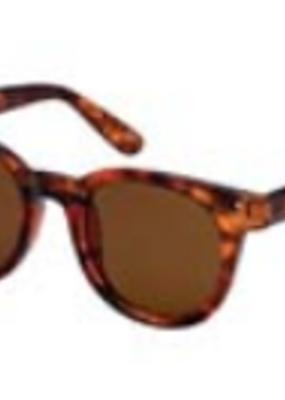 Blue Gem Tortoise Heritage Modern Round Style Sunglasses