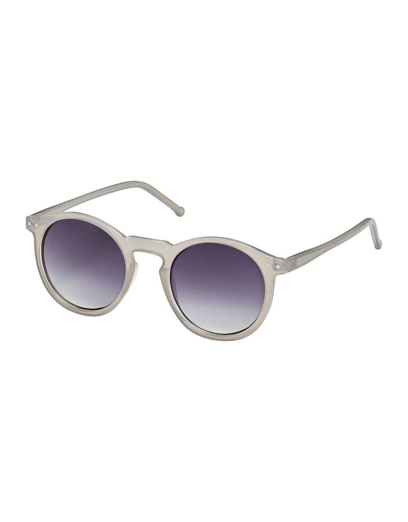 Blue Gem Jellie Roundie Grey w Gradient Smoke Lens