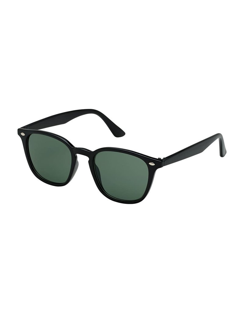Blue Gem Square Black w Green Lens