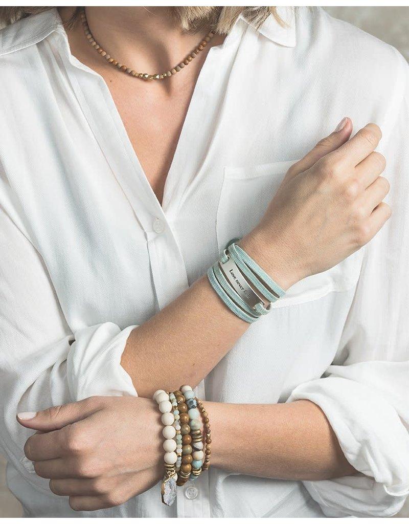Lenny & Eva 4mm Amazonite Gemstone Bracelet