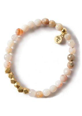 Lenny & Eva 6mm Gemstone Bracelet Rainbow Agate