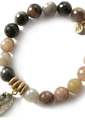Lenny & Eva 10mm Gemstone Bracelet Fancy Jasper