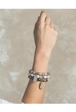 Lenny & Eva 10mm Gemstone Bracelet Mexican Agate