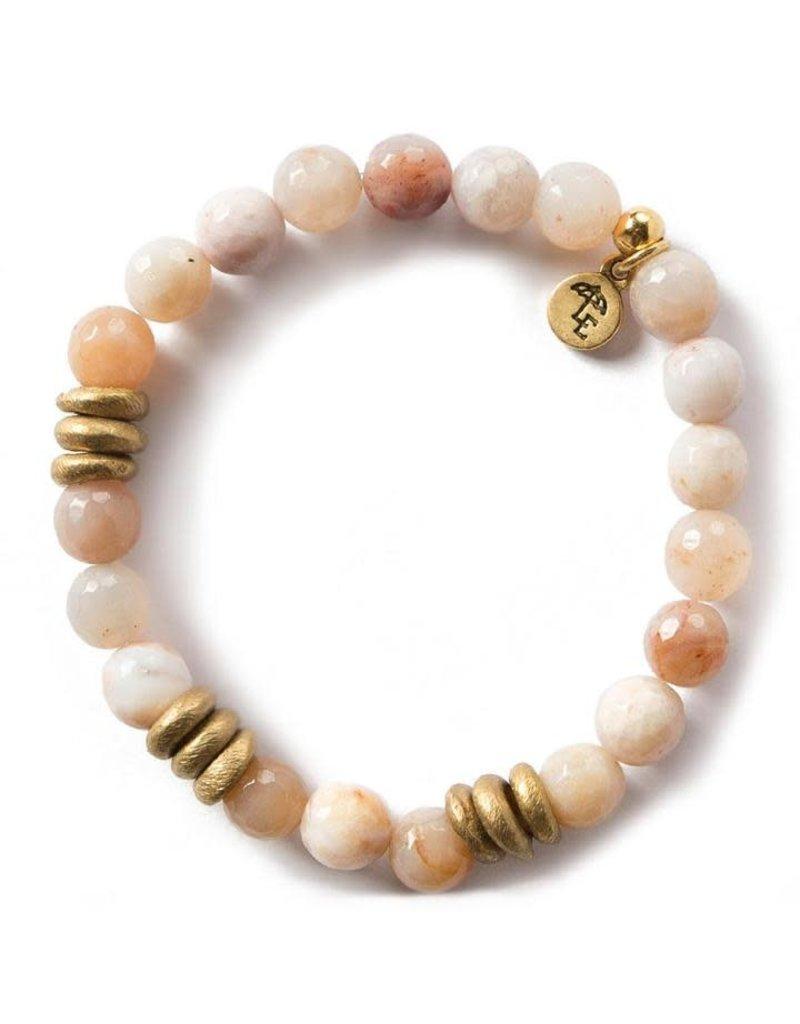Lenny & Eva 8mm Gemstone Bracelet Rainbow Agate