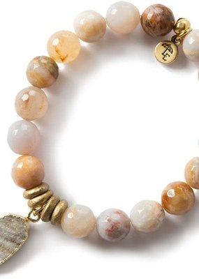 Lenny & Eva 10MM Gemstone Bracelet Rainbow Agate