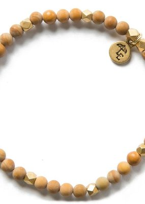Lenny & Eva 4mm Gemstone Bracelet Wood Jasper