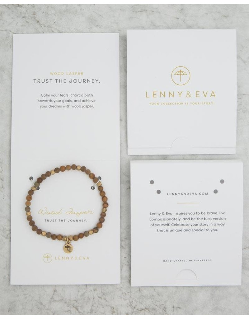 Lenny & Eva 4mm Gemstone Bracelet Wood Jasper