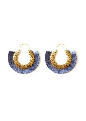 Splendid Iris Grey/Blue Round Fringe