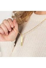 """Lenny & Eva 24"""" Let it Go Gold Bar Pendant Necklace"""
