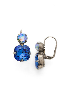 On the Edge Sapphire French Wire Earring