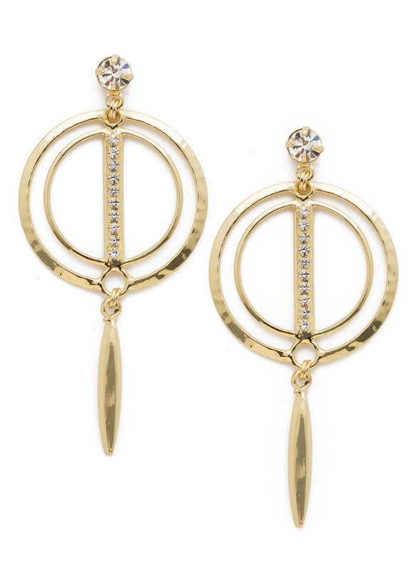 Sorrelli Mini Running In Circles Earring in Clear Crystal