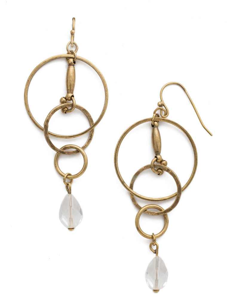 Sorrelli Interlocking Circles Earring in Clear Crystal