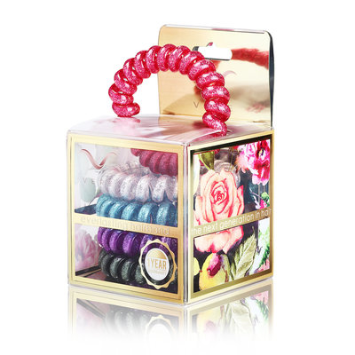 Vere Fuchsia Glitter Blend Hair Tie & Bracelet