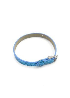 Sequined Sliding Charm Band Light Blue