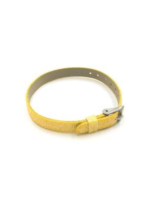 Glitter Sliding Charm Band Yellow