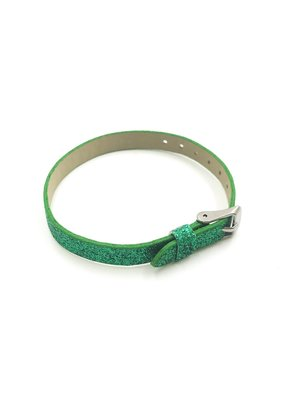 Glitter Sliding Charm Band Green