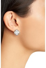 Sorrelli Cushion-Cut Solitaire Earrings in Light Sapphire