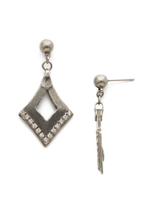 Sorrelli Tri To Love Earring in Clear Crystal