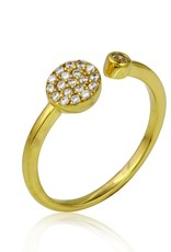 Sterling Silver Gold Plated Round Open Shaped Ring