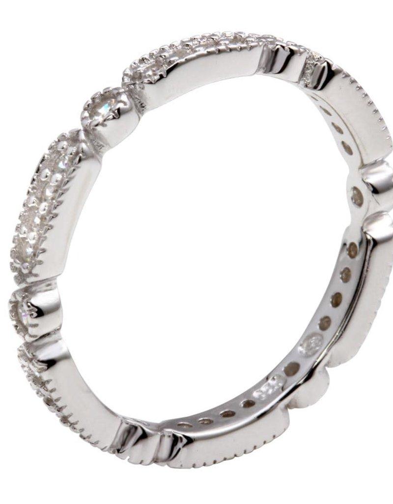 Sterling Silver Multi Shape CZ Ring