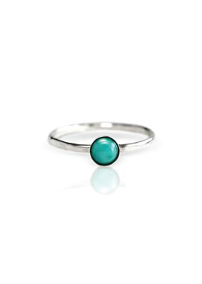Sloane Sterling Silver Turquoise Gemstone Stacking Ring