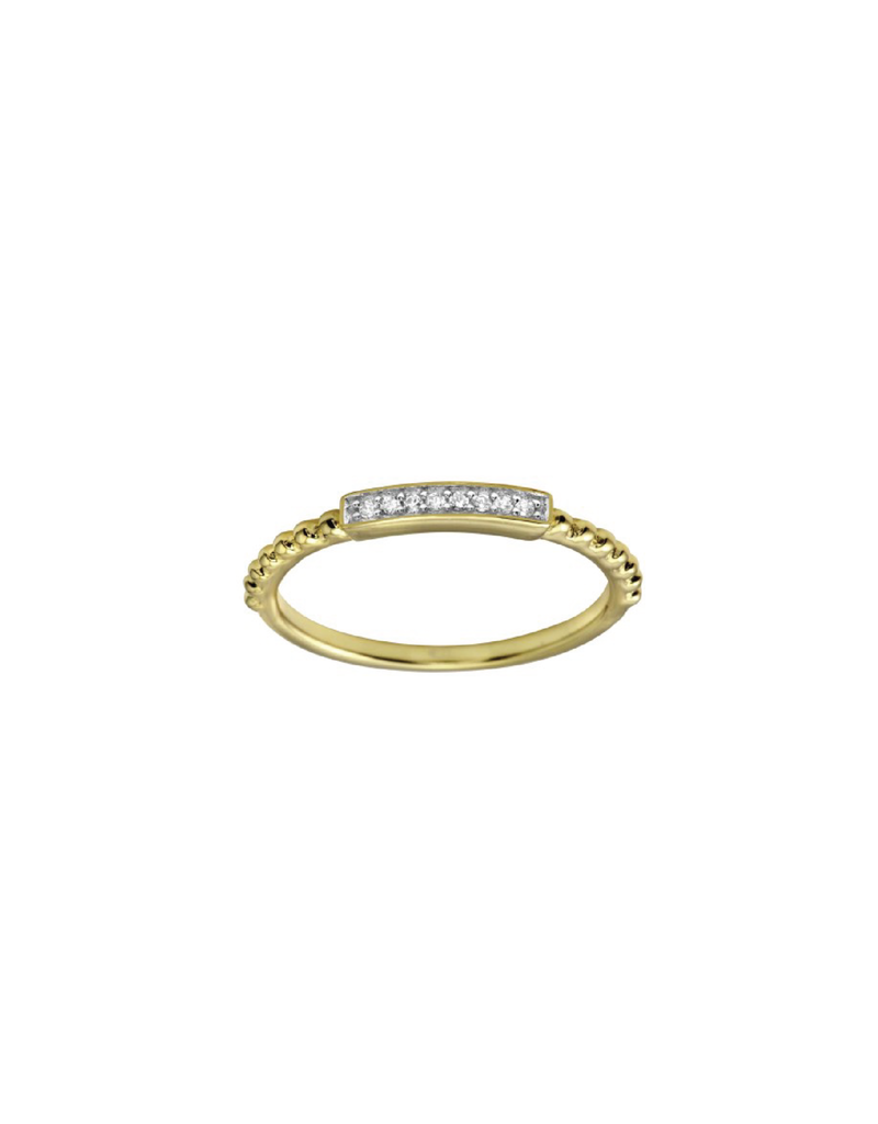 Sterling Silver Gold CZ Ring