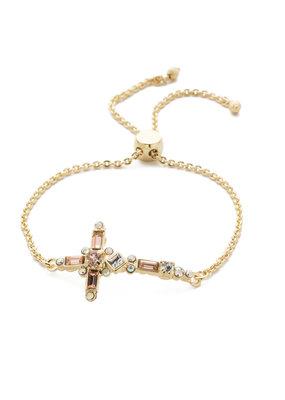 Sorrelli Venezia Pastel Silky Clouds & Bright Gold Slider Bracelet