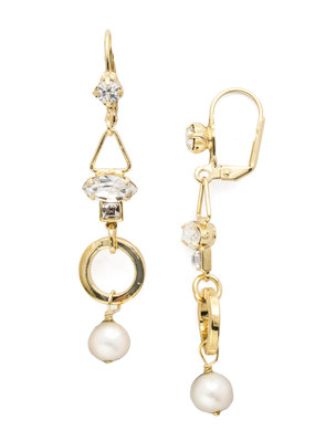 Sorrelli Aryana French Wire Earring in Polished Pearl