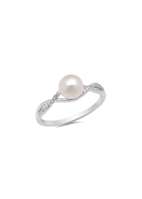 Pearl with Twist Ring SZ7
