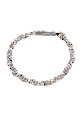 Trades Small Silver Bead Braided Bracelet