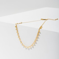 Larissa Loden Gold Candra Necklace in Triangles