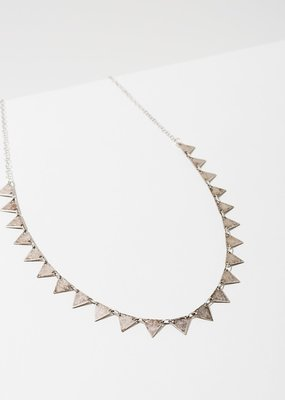 Larissa Loden Silver Candra Necklace in Triangles