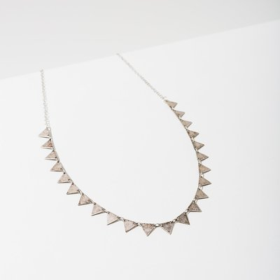 Larissa Loden Silver Candra Necklace in Triangles