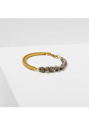 Larissa Loden Two Part Pyrite Bracelet