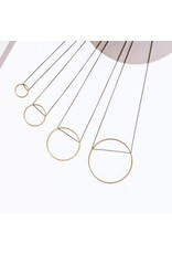 Larissa Loden Brass Small Circle Horizon Necklace