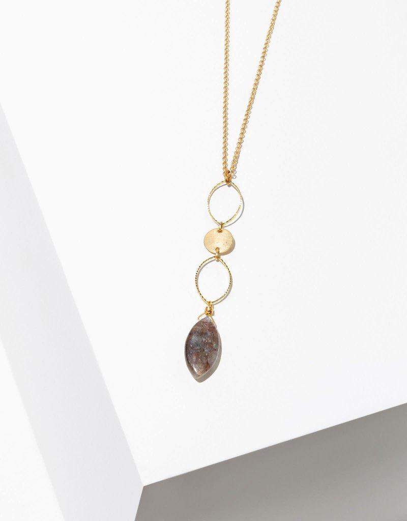 Larissa Loden Kissa Necklace with Kyanite Teardrop