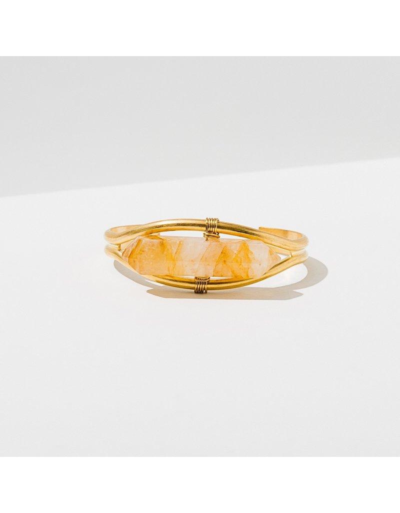 Larissa Loden Citrine Crystal Cuff Bracelet