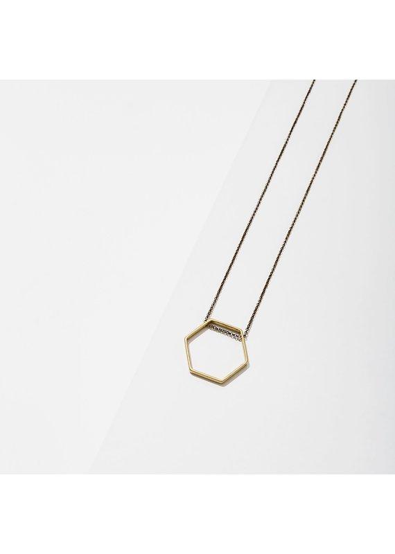 Larissa Loden Extra Small Hexagon Horizon Necklace