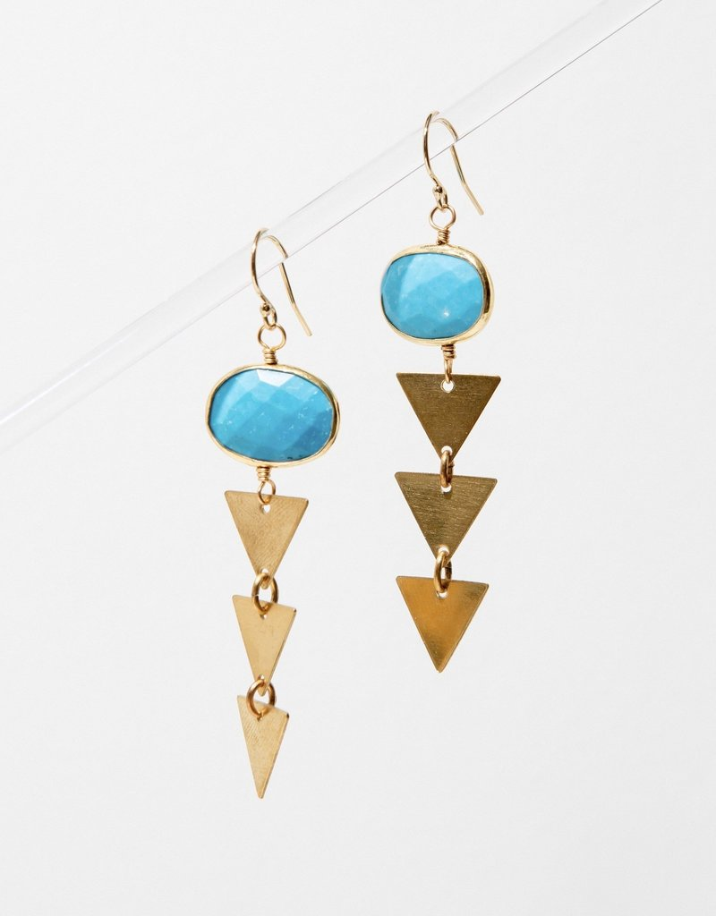 Larissa Loden Pasiphae Earrings in Limited Edition Turquoise