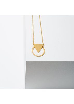 Larissa Loden Brass Reauleaux Necklace