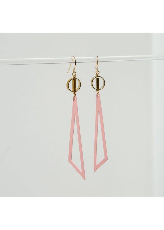 Larissa Loden Pink Tilde Earrings