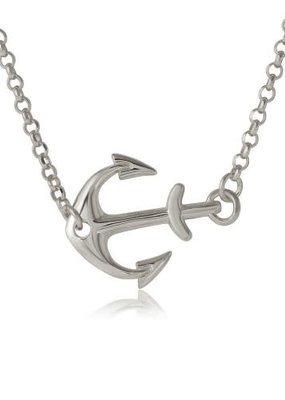 Qualita In Argento Sterling Silver Anchor Necklace