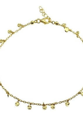 Qualita In Argento Sterling Silver Gold Plated Confetti Anklet