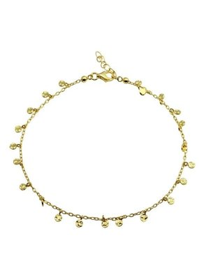 Sterling Silver Gold Plated Confetti Anklet
